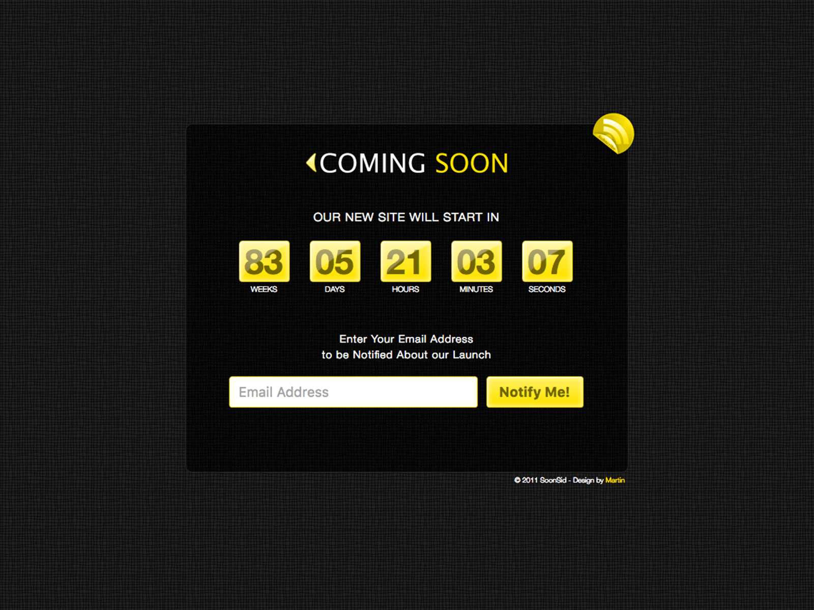 SoonSid - Coming Soon Template