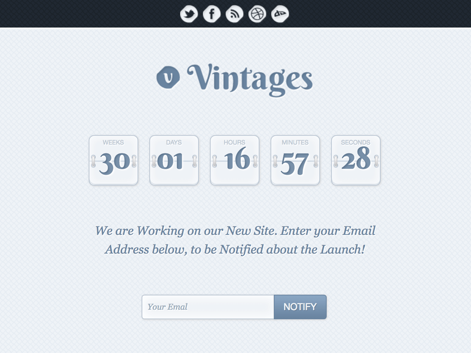 Vintages - Coming Soon Template